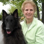 Kathy Lang of Family Dog Training Center with her Belgian Sheepdog, Tory
